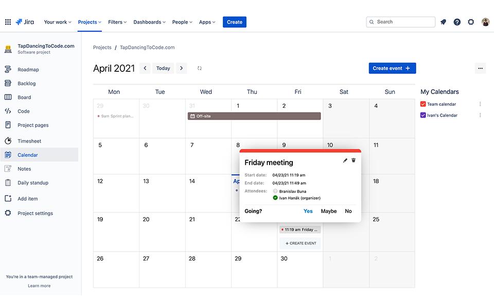 Event Calendar for Jira