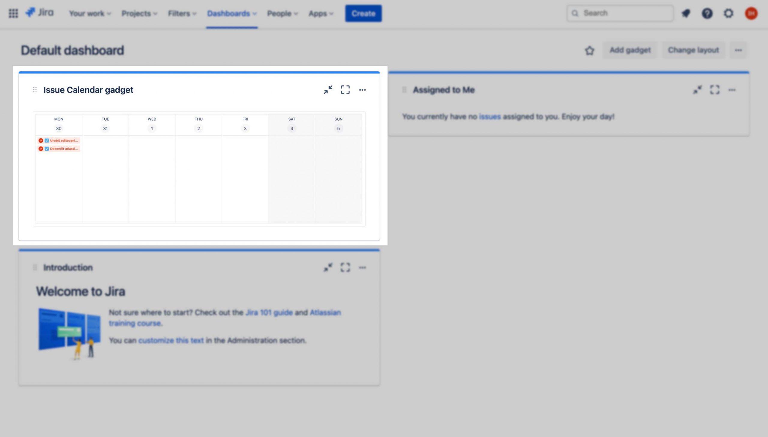 Jira Cloud Dashboard gadget tutorial